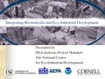 integrating brownfields and eco industrial development