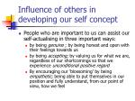 influence of others in developing our self concept