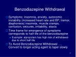 benzodiazepine withdrawal