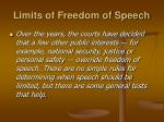 limits of freedom of speech