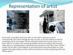 representation of artist