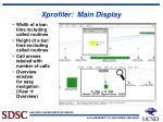 xprofiler main display