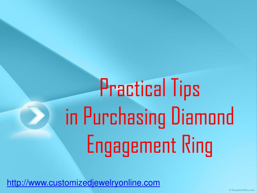 practical tips in purchasing diamond engagement ring l.