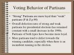 voting behavior of partisans