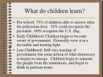 what do children learn