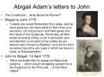abigail adam s letters to john