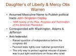 daughter s of liberty mercy otis warren