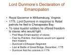 lord dunmore s declaration of emancipation