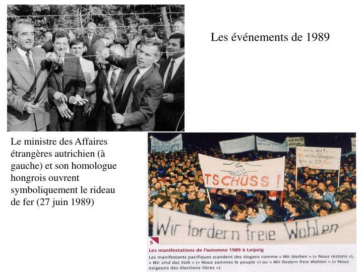 Les événements de 1989
