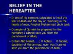 belief in the hereafter2