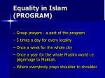 equality in islam program