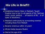 his life in brief1