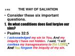 5 ws the way of salvation