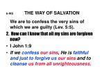 6 ws the way of salvation
