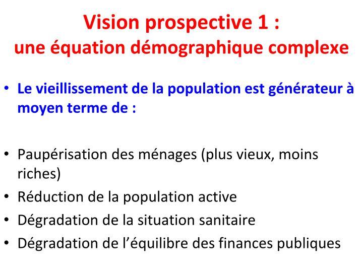 Vision prospective 1 :
