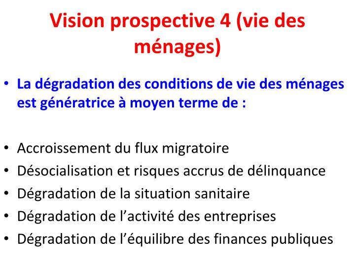 Vision prospective 4 (vie des ménages)