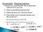 example depreciation