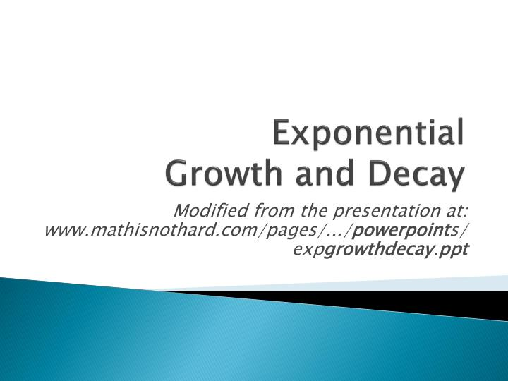 exponential growth and decay n.