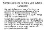 computable and partially computable languages