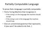 partially computable language