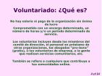 voluntariado qu es