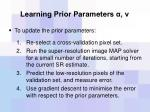 learning prior parameters4