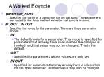 a worked example29