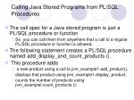 calling java stored programs from pl sql procedures