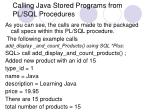 calling java stored programs from pl sql procedures2