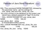 features of java store procedure output2