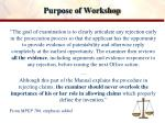 purpose of workshop1