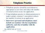 telephone practice