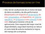 procesos de transacciones on line