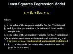 least squares regression model