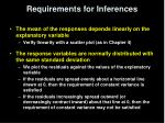requirements for inferences