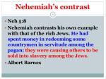 nehemiah s contrast