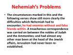 nehemiah s problems