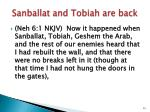 sanballat and tobiah are back