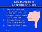disadvantages of nonparametric tests