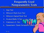 frequently used nonparametric tests
