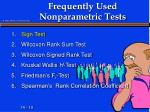 frequently used nonparametric tests1