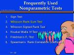 frequently used nonparametric tests2