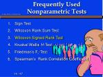 frequently used nonparametric tests3