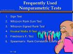 frequently used nonparametric tests4