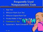 frequently used nonparametric tests5