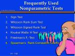frequently used nonparametric tests6