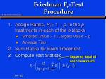 friedman f r test procedure1