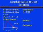 kruskal wallis h test solution11