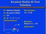kruskal wallis h test solution12