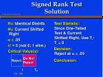 signed rank test solution5